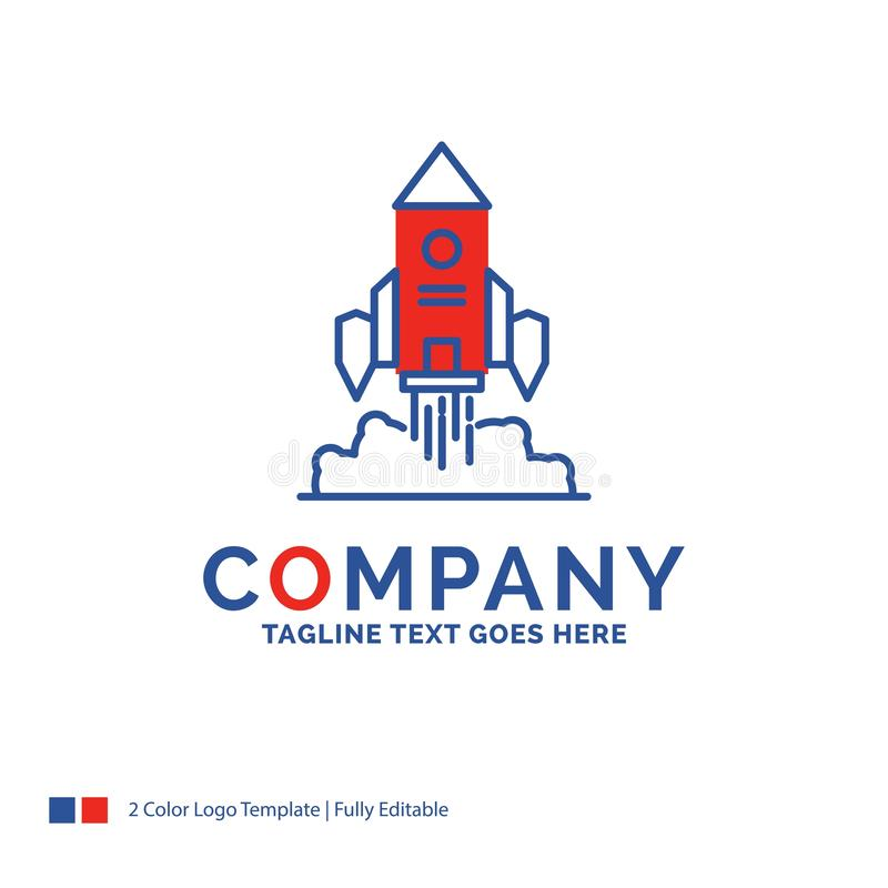 Company Name Logo Design For Rocket, spaceship, startup, launch stock illustration