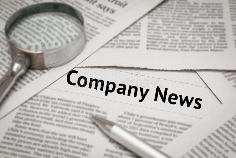 Company news headline stock photo