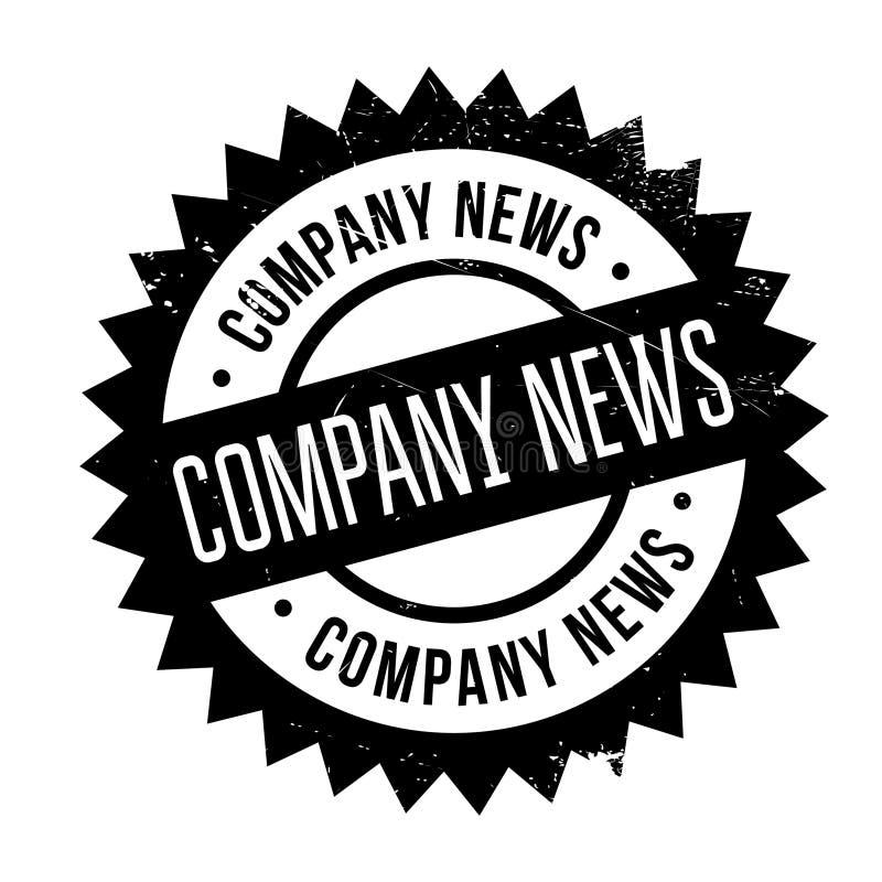Company news stamp stock illustration