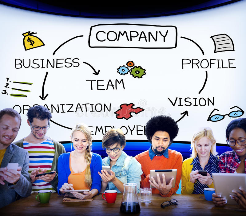 Company Organization Employees Group Corporate Concept.  royalty free stock photo