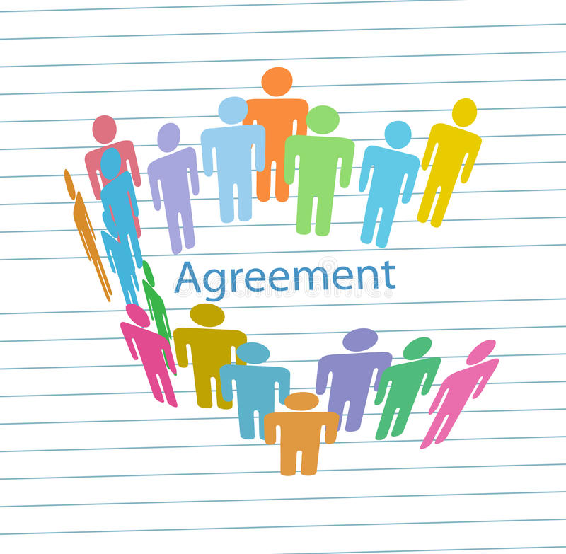 Download Company People Meet Consensus Agreement Contract Stock Vector - Illustration: 18887672