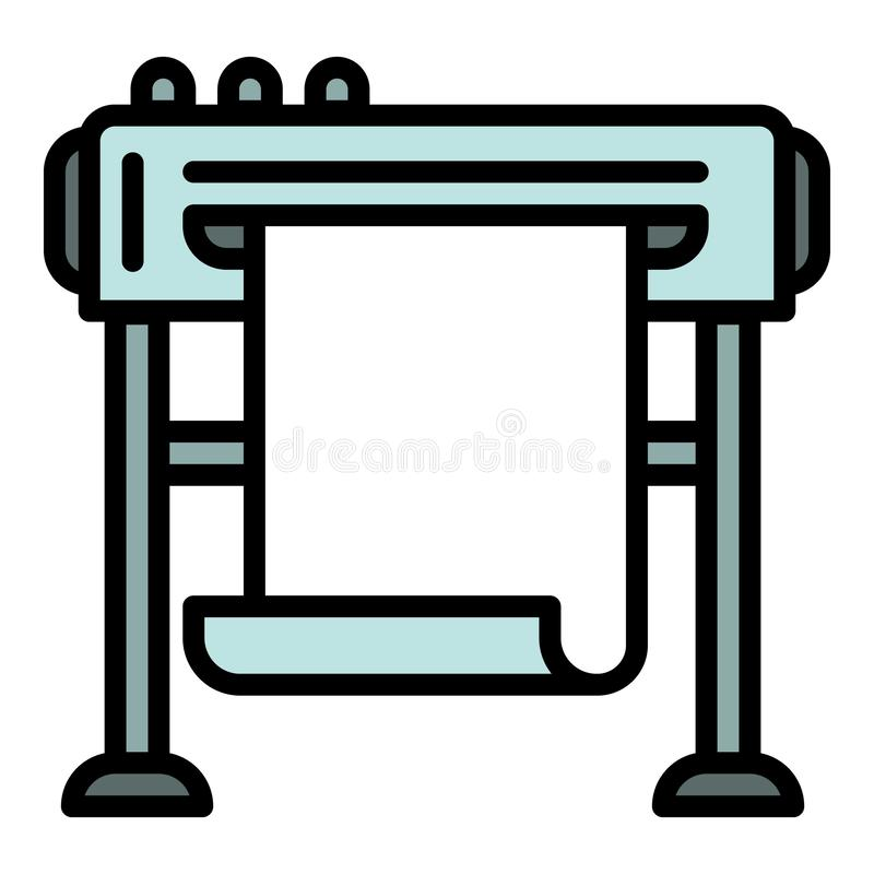 Company plotter icon, outline style. Company plotter icon. Outline company plotter vector icon for web design isolated on white background stock illustration