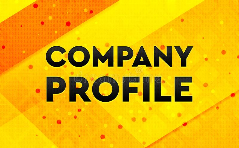 Company Profile abstract digital banner yellow background royalty free illustration