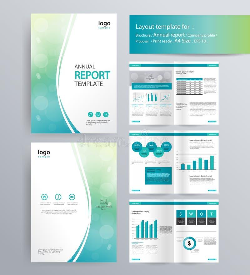 Company Profile Annual Report Brochure Template Stock Vector