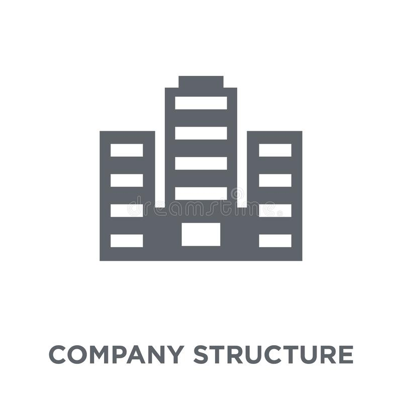 company Structure icon from Human resources collection. stock illustration