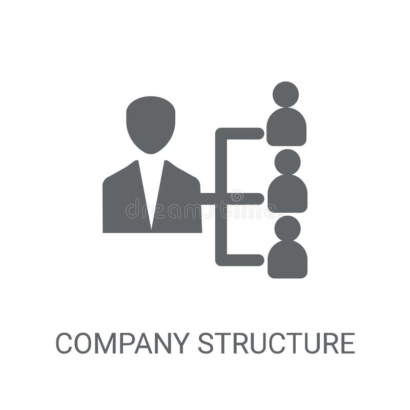 company Structure icon. Trendy company Structure logo concept on royalty free illustration