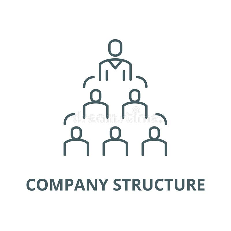 Company structure line icon, vector. Company structure outline sign, concept symbol, flat illustration. Company structure line icon, vector. Company structure stock illustration
