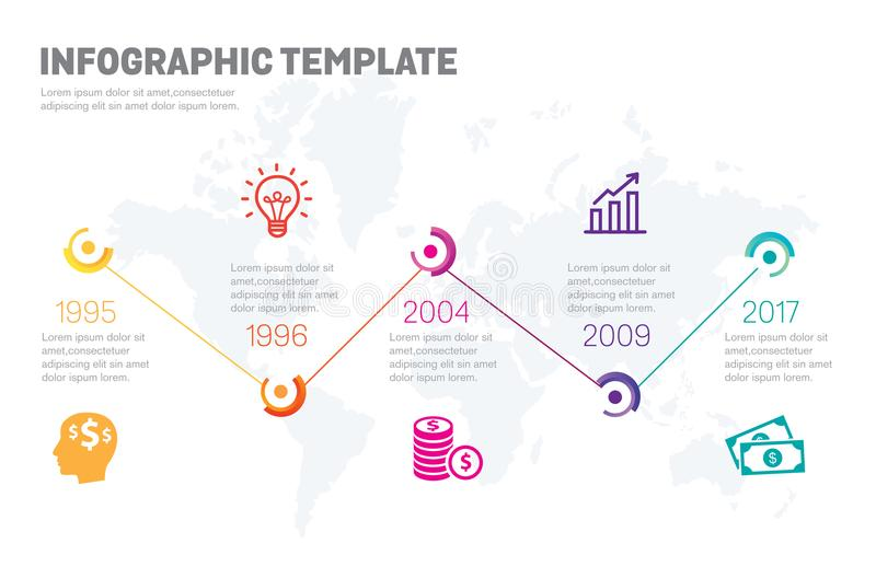 Company Timeline - Milestones Template vector illustration