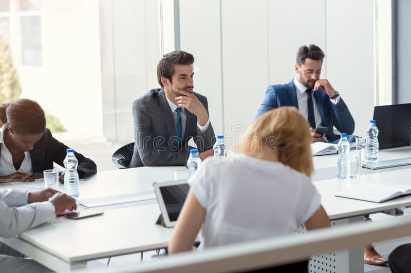 Company workers on break royalty free stock image