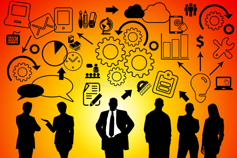 Company workflow royalty free illustration
