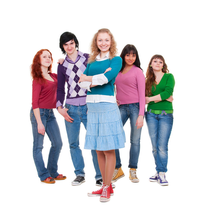 Download Company Of Young Lively People Stock Image - Image: 13969731