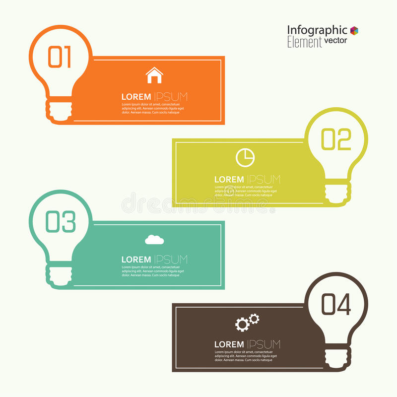Comparative chart with templates for presentation royalty free illustration
