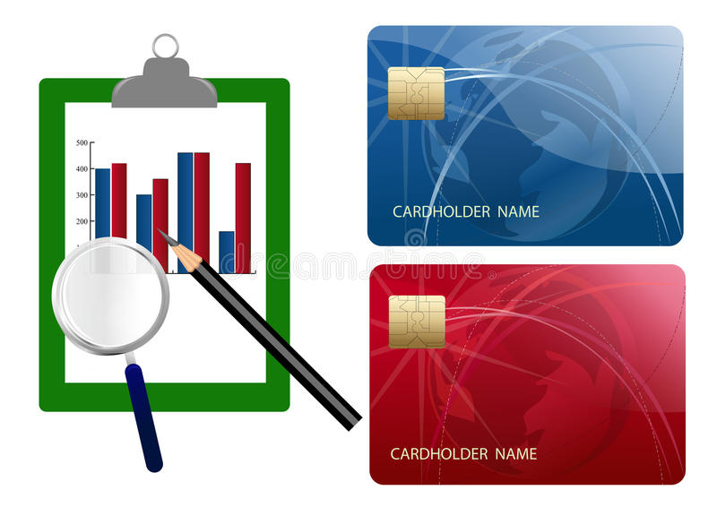 Download Compare Credit Cards Expense Stock Illustration - Image: 18229677