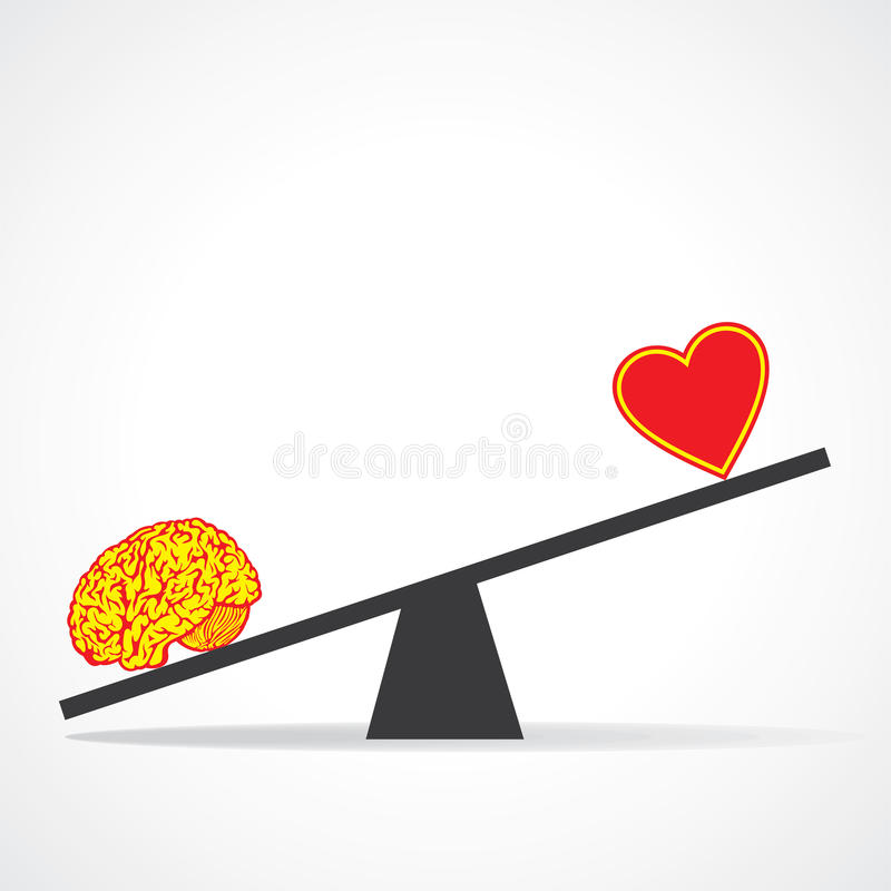 Download Compare mind with heart stock vector. Image of icon, follow - 29704377