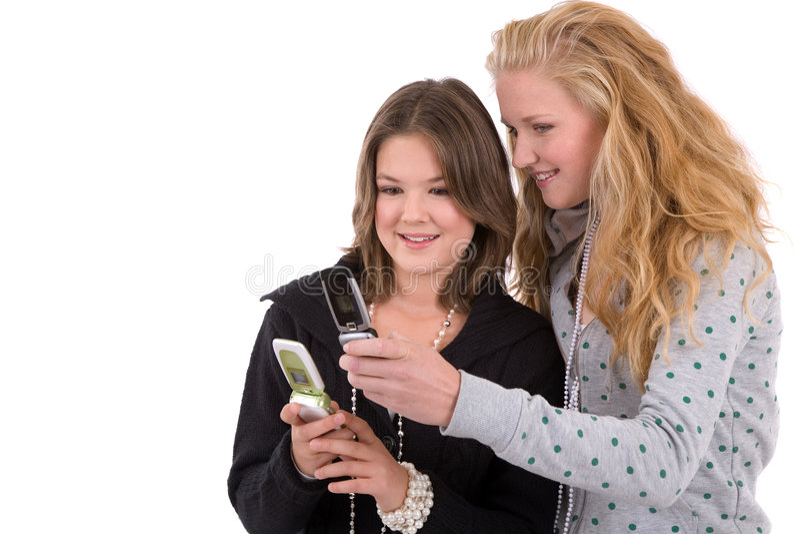 Comparer des téléphones images libres de droits