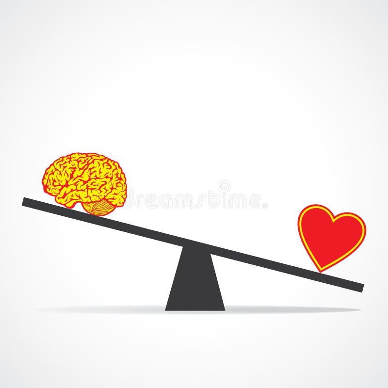 Comparez l'esprit au coeur illustration libre de droits