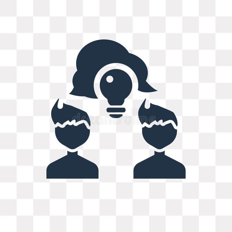 Comparta el icono del vector aislado en el fondo transparente, tra de la parte stock de ilustración