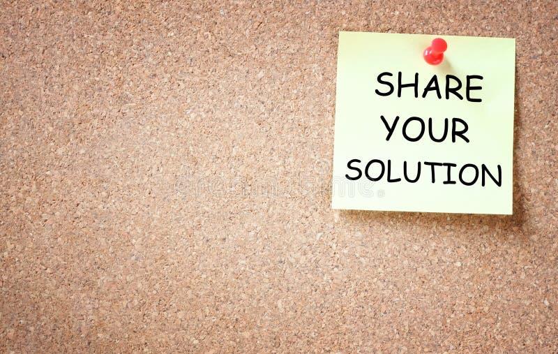 Comparta su concepto de la solución foto de archivo libre de regalías