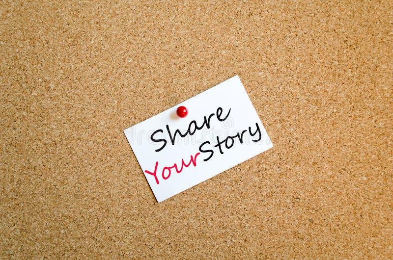 Comparta su concepto pegajoso de la nota de la historia fotos de archivo
