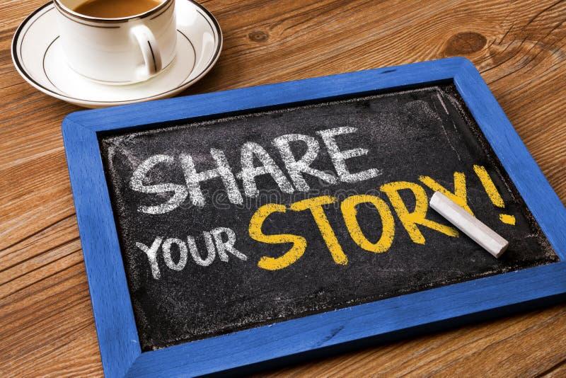 Comparta su historia imágenes de archivo libres de regalías