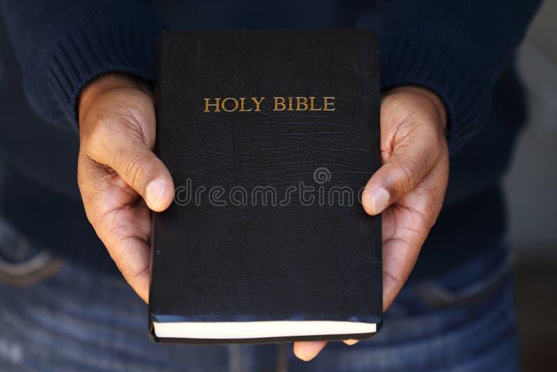 Compartilhando do gospel foto de stock