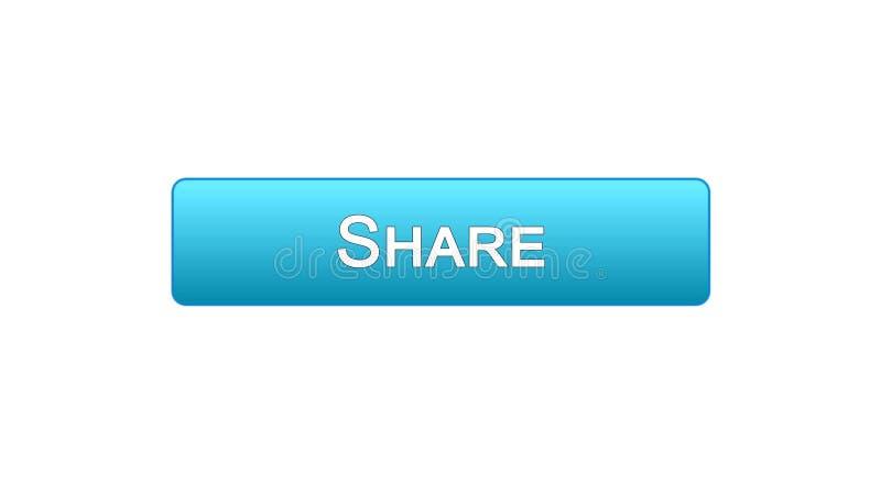 Compartilhe da cor azul do botão da relação da Web, aplicação social da rede, uma comunicação ilustração do vetor
