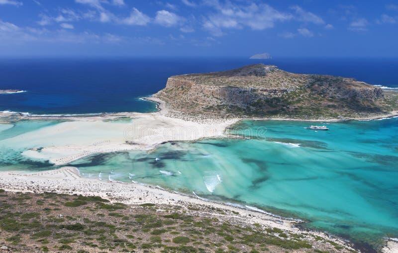 Compartiment de Balos à l'île de Crète, Grèce photographie stock libre de droits