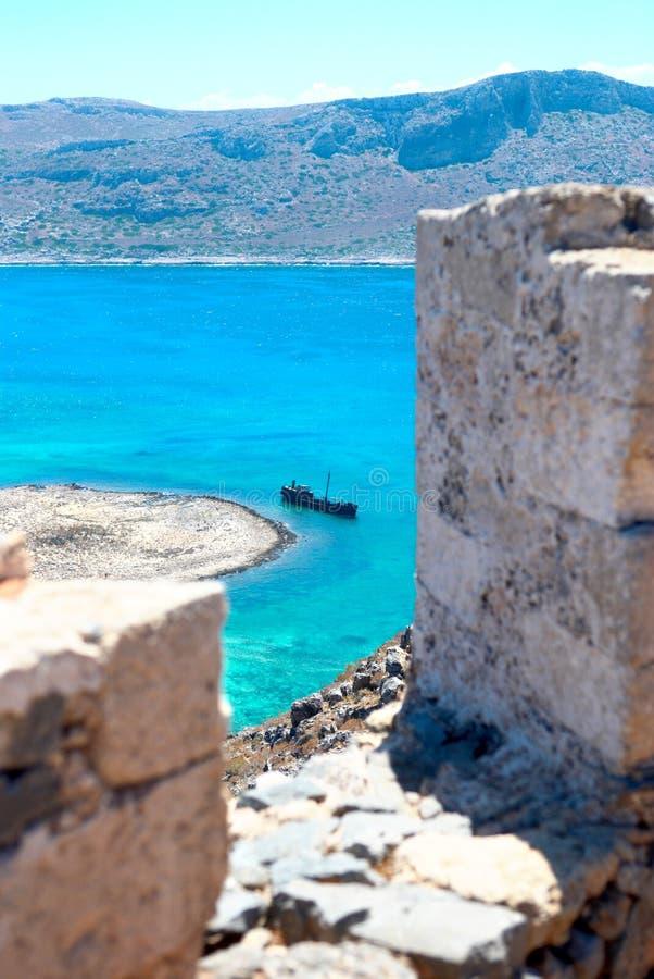 Compartiment de Balos. Crète. La Grèce photo stock