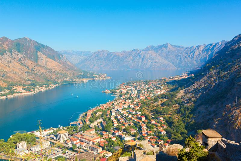 Compartiment de Boka Kotorska montenegro photos libres de droits