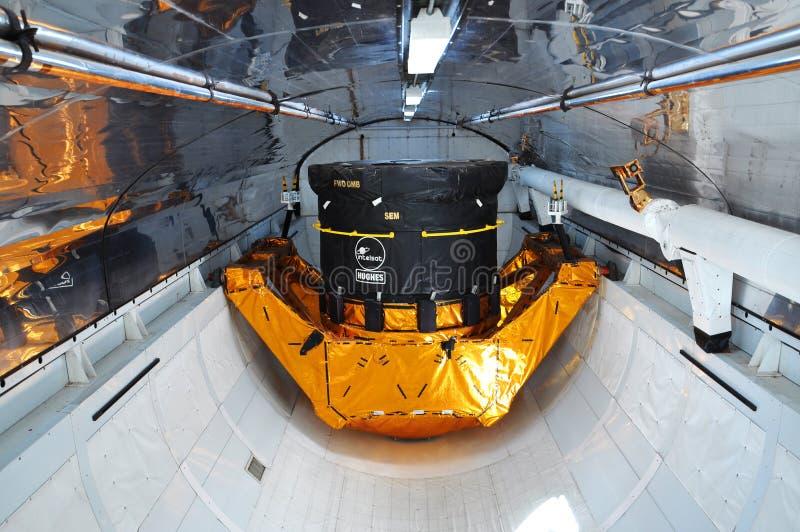 Compartiment de cargaison d'explorateur de navette spatiale images stock