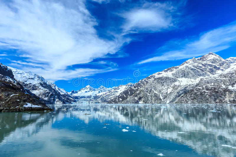 Compartiment de glacier, Alaska photos stock