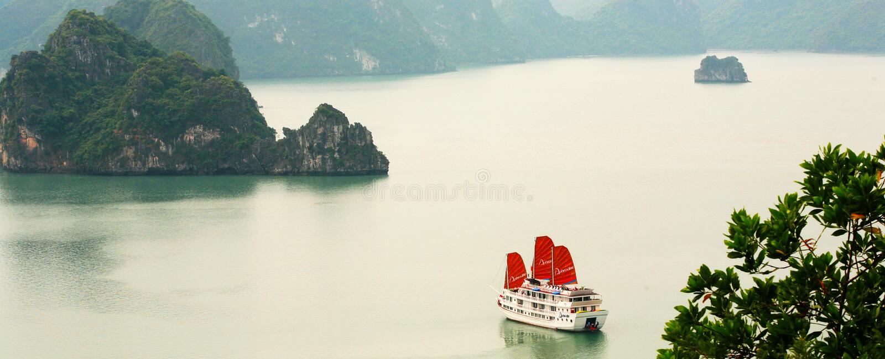 Compartiment de Halong photographie stock libre de droits