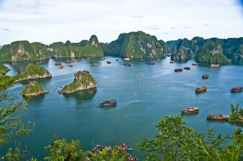 Compartiment de Halong, Vietnam photos libres de droits