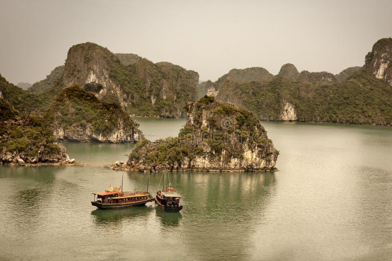 Compartiment de Halong, Vietnam image libre de droits