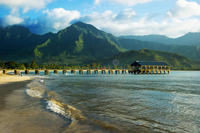 Compartiment de Hanalei, Kauai photographie stock libre de droits