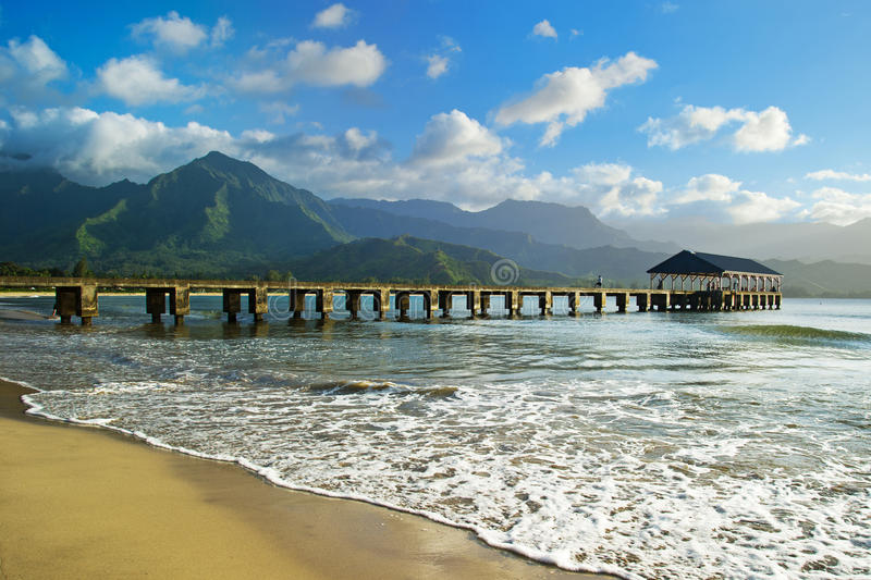 Compartiment de Hanalei, Kauai photo libre de droits