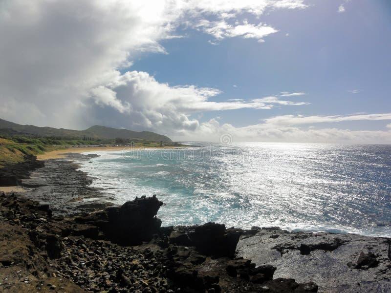 Compartiment de Hanauma, Hawaï images libres de droits