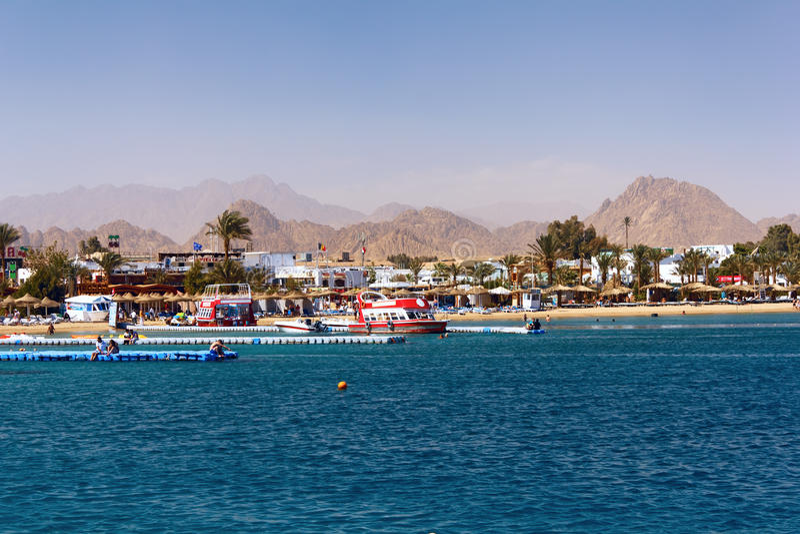 Compartiment de Naama dans Sharm El Sheikh images libres de droits