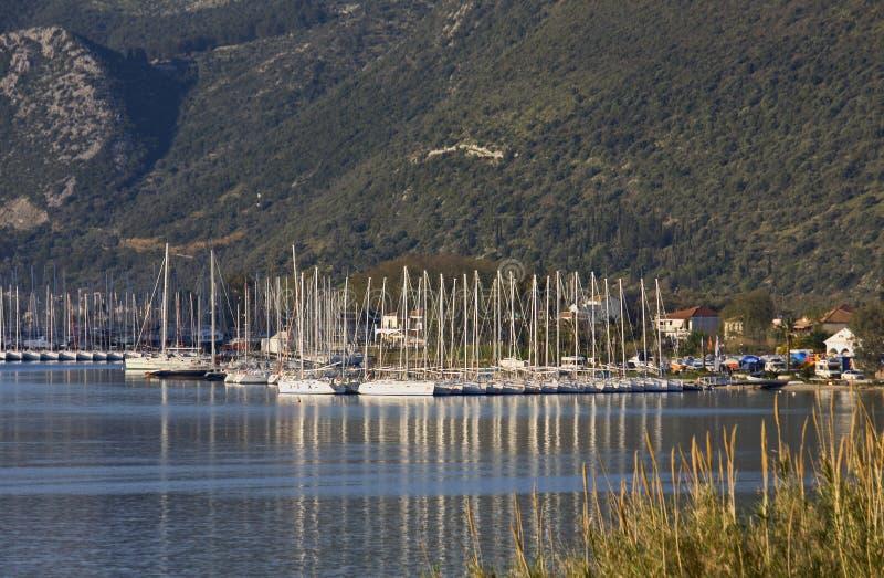 Compartiment de Nydri à Lefkada, Grèce photos stock