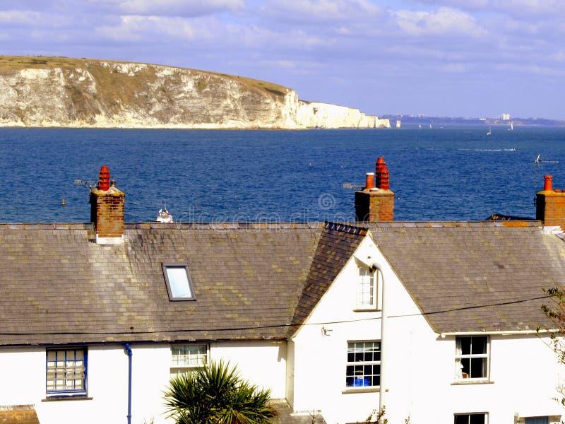 Compartiment de Swanage, Dorset photo stock
