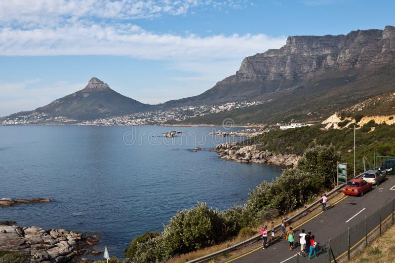 Compartiment et lions Capetown principal Afrique du Sud de camps photos stock