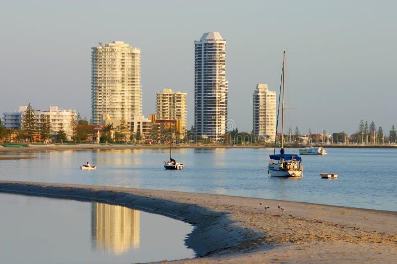Compartiment Gold Coast d'emballement photo libre de droits