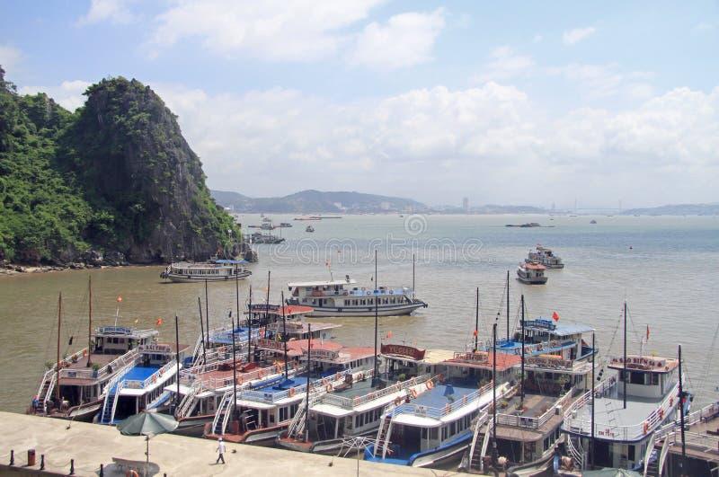 Compartiment long d'ha au Vietnam photographie stock