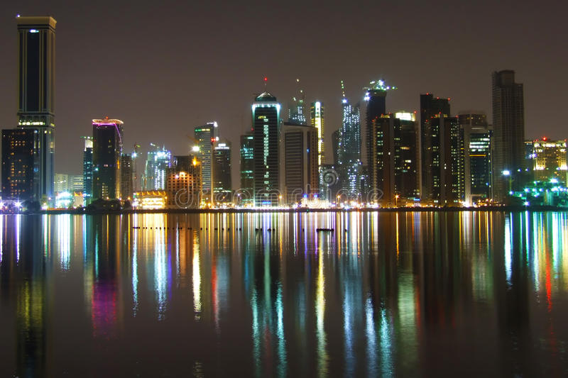 Compartiment occidental de Doha image stock