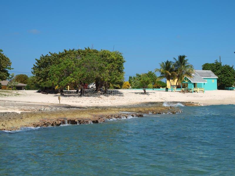 Compartiment occidental de plage publique grande de caïman image stock