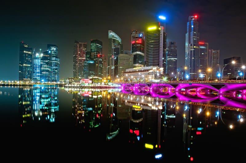 Compartiment Singapour de marina photos stock