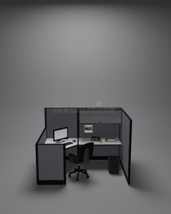 Compartiment typique de bureau sur le fond gris photos stock