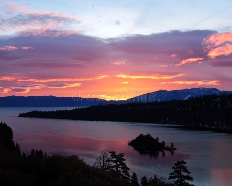 Compartiment vert - Lake Tahoe image libre de droits