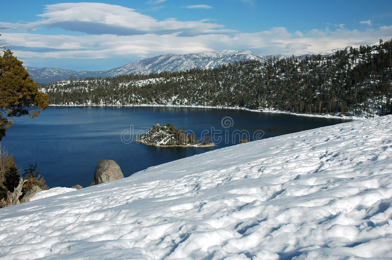 Compartiment vert, Lake Tahoe, la Californie photo libre de droits