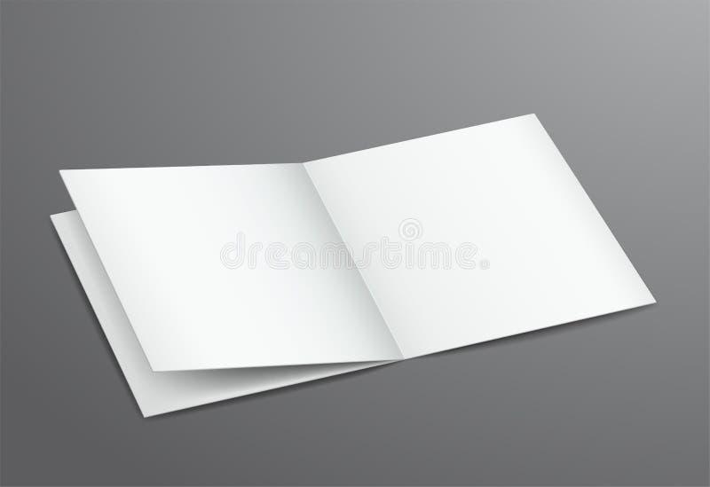 Compartimento aberto do folheto do branco vazio ilustração do vetor